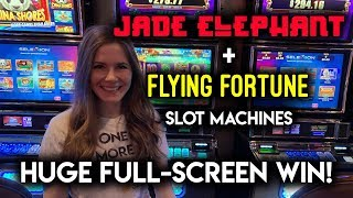 Flying Fortune! Slot Machine! HUGE FULL SCREEN WIN!!