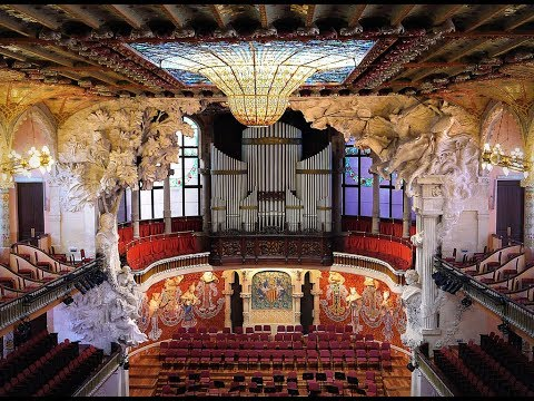 Places to see in ( Barcelona - Spain ) Palau de la Musica Orfeo Catala