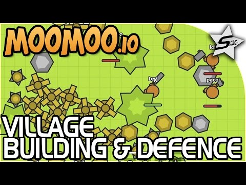 MOOMOO - BUILDING OUR VILLAGE BASE! - AWESOME, FREE Survival .IO Game!! - Moomoo.io Gameplay