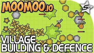 MOOMOO - BUILDING OUR VILLAGE BASE! - AWESOME, FREE Survival .IO Game!! - Moomoo.io Gameplay