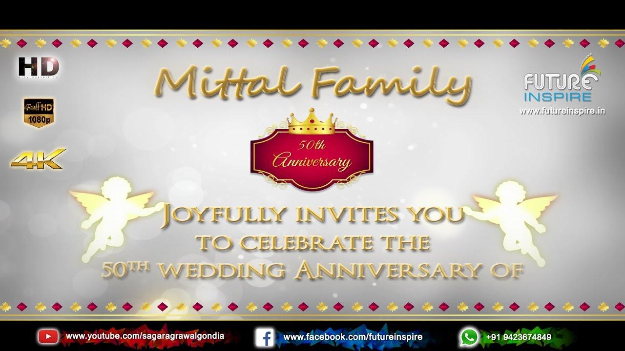 50th wedding anniversary premium invitation video om prakash 50th wedding anniversary premium invitation video om prakash mittal kiran rani stopboris Image collections