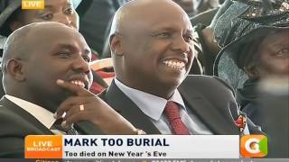 National Assembly Majority leader Aden Duale : Condoles to the family of Mark Too