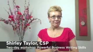 Powerful Business Writing Skills with Shirley Taylor