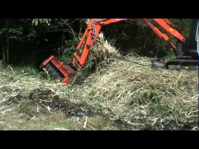 mulching kubota 080 fecon cem36 - youtube  youtube