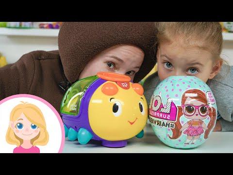 Маленькая Вера и Медведь влог - Распаковка игрушки куклы Лол ХеирВайбс