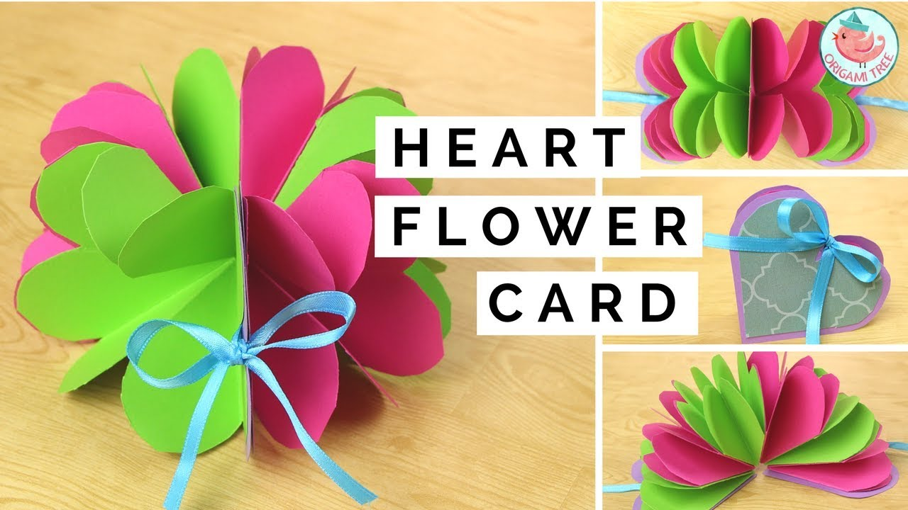 Pop up flower pop up heart card paper crafts tutorial easy pop up flower pop up heart card paper crafts tutorial easy diy handmade card making jeuxipadfo Choice Image