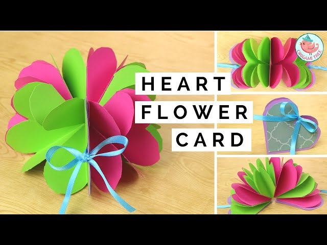 Pop up flower pop up heart card paper crafts tutorial easy diy learn how to make a pop up flower card and pop up heart hard combo this pop up card tutorial includes easy instructions to make your own handmade greeting mightylinksfo