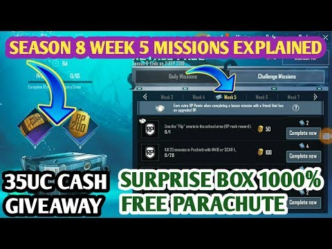 Repeat Pubg Mobile Season 8 Week 5 Missions Explained | Get