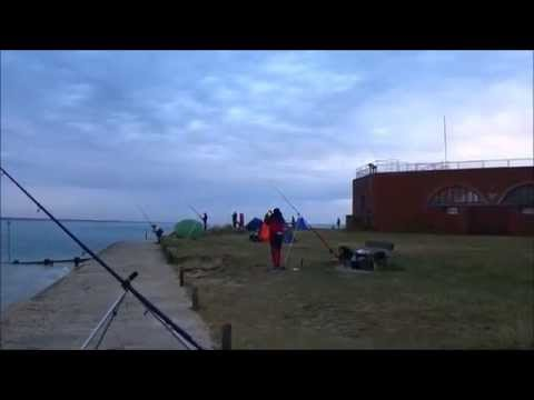 Fort Victoria. Isle Of Wight. UK Shore Fishing. WW Danglers Smoothound Comp 18/7/2015