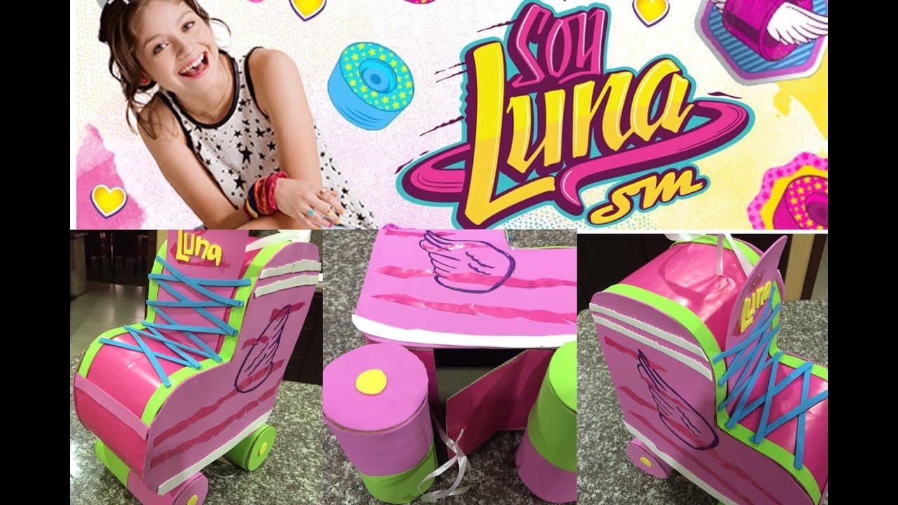piñata en forma de patin, Soy luna, shaped pinata skate