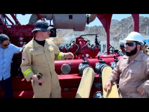 IES-WILLIAMS 6000 GPM Fire Monitor demo in Muscat Oman