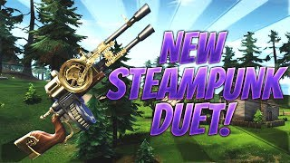 New Duet Steampunk Assault Rifle Review | Fortnite Save The World