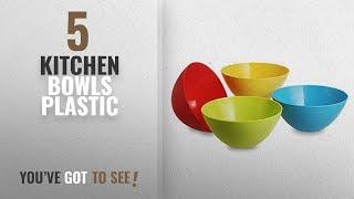 Top 10 Kitchen Bowls Plastic [2018]: All Time Plastic Mixing Bowl Set, 800ml, Set of 4, Multicolour