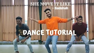 She Move It Like Dance Tutorial | Easy Dance Choreography | HipHop choreography by Pranav Budhdeo