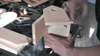 "This is a very edited video on how I build my bird houses. It is based on a design called the ""the Chalet"" by http://www.realbirdhomes"