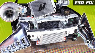 E30 Fix 14 | Test Fit MISHIMOTO Radiator, Turbo, eBay M20 Intake, Intercooler