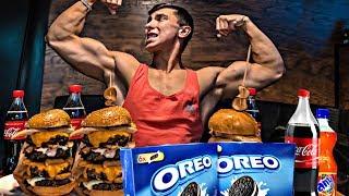 10 000 КАЛОРИЙ ЗА ДЕНЬ Пауэрлифтинг VS Еда 10 000 Calorie Challenge