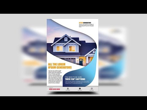 Modern Business Flyer | Photoshop Tutorial (Real Estate Flyer)