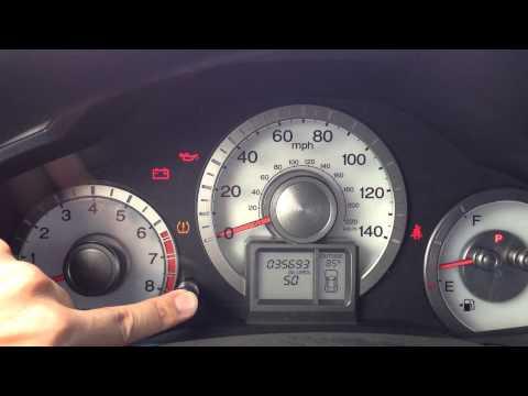 Reset Oil Maintenance Light - 2011 to 2013 Honda Pilot