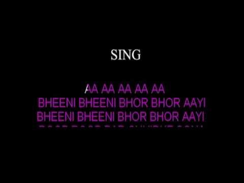 Bheeni Bheeni Bhor Bhor Aayi Karaoke Video Lyrics Asha Bhosle Classical