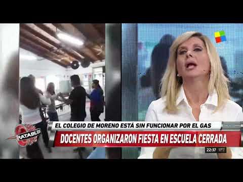 Fiesta y escándalo en una escuela de Moreno