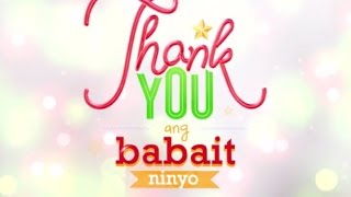 "ABS-CBN Christmas Station ID 2014 ""Thank You Babait Ninyo"" Lyrics"