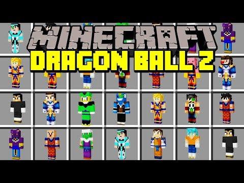 Minecraft DRAGON BALL Z MOD! | GOKU, SUPER SAIYAN, VEGETA, FREEZA, & MORE! | Modded Mini-Game