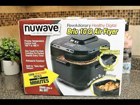 Nuwave Brio 10 Quart Air Fryer Full Review and How to use it