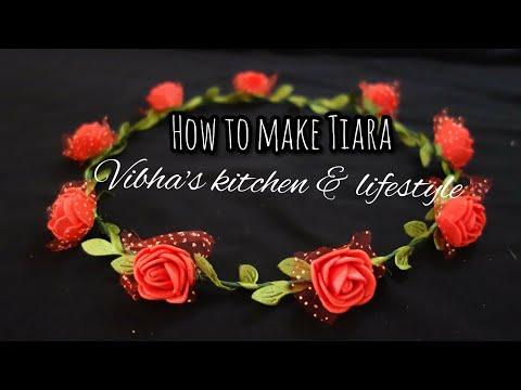 How to make a flower crown Tiara | Handmade Tiara | DIY Flower Crown | Floral Tiara