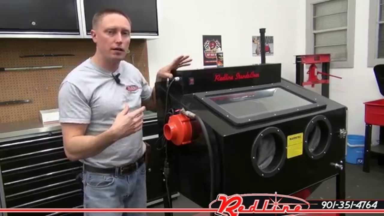 NEW Redline RE36DL Double Light Sand Blasting Blaster Cabinet ...