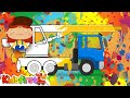 Color a crane with Doctor McWheelie. Kids' cartoons.