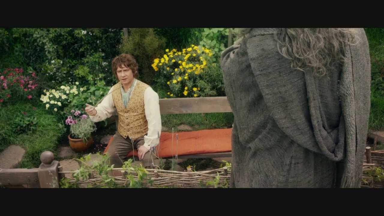 The Hobbit An Unexpected Journey - Bilbo meets Gandalf - YouTube