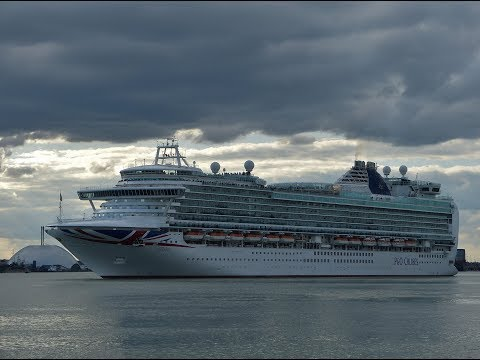 P&O Cruises Ships in Southampton Docks - 02/04/2017