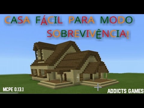 Minecraft pe casa moderna de madeira youtube for Casa moderna en minecraft pe