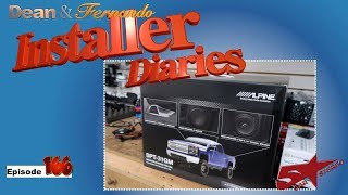 We start on a Chevrolet Truck with some Alpine SPT 31GM speakers  Installer Diaries 166 part 1