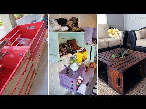 💖5 Cheap and Clever DIY Organization Ideas Using Wood Crate 💖