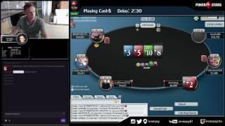 Покер Стрим от Покер Про - дипраним 55$ 6max Progressive Knockout + кэш