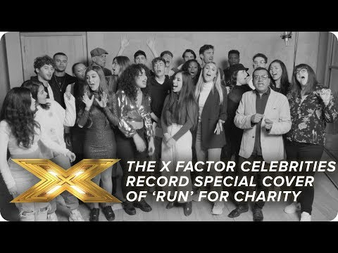 The X Factor Celebrities Record Special Cover Of Run For Charity X Factor Celebrity Youtube