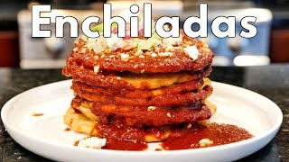 FLAT RED ENCHILADAS SONRAN MEXICAN STYLE FRIED INSTANT CORN MASA WITH CHILI SAUCE
