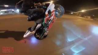 полиция приследует мотоциклистов cop vs bike стант уход от полиции 2015