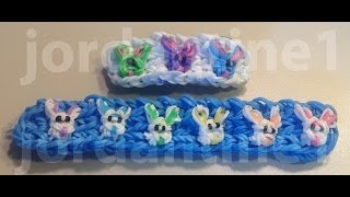 New Easter Bunny Rabbit Bracelet - Spring Holiday - Rainbow Loom