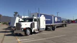 Gardner Trucking Peterbilt 379 With An Adjustable Spread Utility Flatbed Trailer At TFK 2013