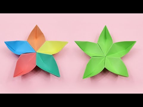 How to Make Beautiful Origami Flower - DIY Paper Flower for Christmas Decoration