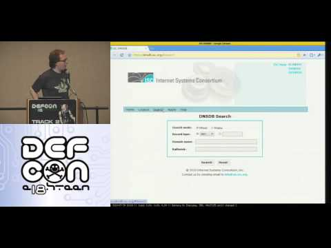 DEF CON 18 - Robert Edmonds & Paul Vixie - Passive DNS Hardening