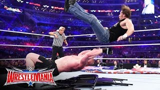 Dean Ambrose vs. Brock Lesnar - No Holds Barred Street Fight: WrestleMania 32 on WWE Network