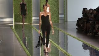 Winnie Harlow and fellow models on the runway of the Cushnie Fashion Show in NYC