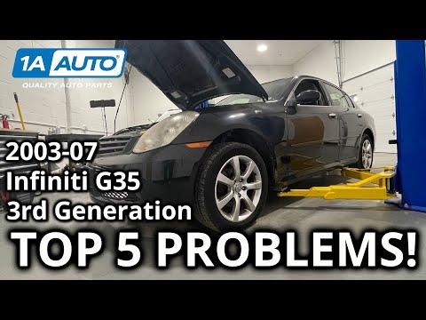 Top 5 Problems Infiniti G35 Sedan 3rd Generation 2003-07