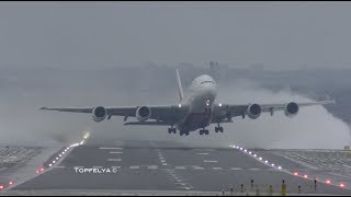 Airbus A380 Best ever Takeoff captured on camera Spectacular crosswind departure