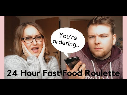 24 HOUR FAST FOOD ROULETTE | FOOD CHALLENGE | Chloe Emily
