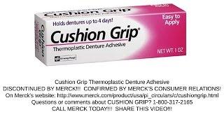 Cushion Grip Thermoplastic Denture Adhesive Discontinued Merck